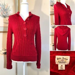 Polo Jeans 1967 Long Sleeve Red Hoodie Sweater M